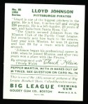 1934 Goudey Reprints #86  Lloyd Johnson  Back Thumbnail