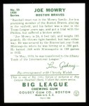 1934 Goudey Reprint #59  Joe Mowry  Back Thumbnail