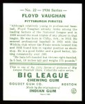 1934 Goudey Reprint #22  Arky Vaughan  Back Thumbnail