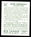 1934 Goudey Reprint #85  Adam Comorosky  Back Thumbnail