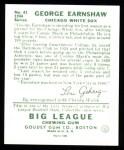 1934 Goudey Reprint #41  George Earnshaw  Back Thumbnail