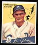 1934 Goudey Reprint #78  Pinky Higgins  Front Thumbnail