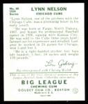 1934 Goudey Reprint #60  Lynn Nelson  Back Thumbnail