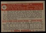 1952 Topps #367  Bob Thorpe  Back Thumbnail