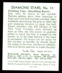 1934 Diamond Stars Reprint #11  Bill Dickey  Back Thumbnail