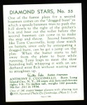 1934 Diamond Stars Reprint #55  Tony Cuccinello  Back Thumbnail