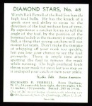 1934 Diamond Stars Reprint #48  Rick Ferrell  Back Thumbnail