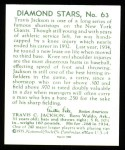 1934 Diamond Stars Reprints #63  Travis Stonewall Jackson  Back Thumbnail