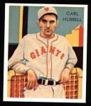 1934 Diamond Stars Reprint #39  Carl Hubbell  Front Thumbnail