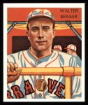 1934 Diamond Stars Reprint #25  Walter Berger  Front Thumbnail