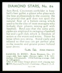 1934 Diamond Stars Reprint #84  Sam Byrd  Back Thumbnail