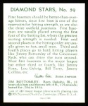1934 Diamond Stars Reprint #59  Jim Bottomley  Back Thumbnail