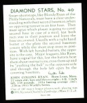 1934 Diamond Stars Reprint #40  Blondy Ryan  Back Thumbnail