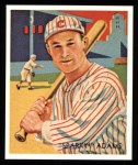 1934 Diamond Stars Reprints #24  Earl Sparky Adams  Front Thumbnail