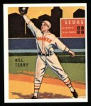 1934 Diamond Stars Reprints #14  Bill Terry  Front Thumbnail