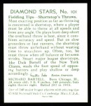 1934 Diamond Stars Reprint #101  Dick Bartell  Back Thumbnail