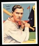 1934 Diamond Stars Reprint #50  Mel Ott  Front Thumbnail