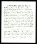 1934 Diamond Stars Reprint #8  Joe Vosmik  Back Thumbnail