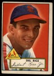 1952 Topps #100  Del Rice  Front Thumbnail