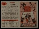 1957 Topps #19  Perry Jeter  Back Thumbnail