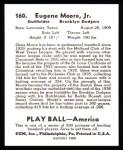 1939 Play Ball Reprints #160  Gene Moore  Back Thumbnail