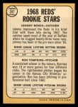 1968 Topps #247 ^COR^  -  Johnny Bench / Ron Tompkins Reds Rookies  Back Thumbnail