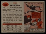 1957 Topps #33  Bill Howton  Back Thumbnail