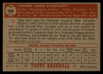 1952 Topps #108  Jim Konstanty  Back Thumbnail