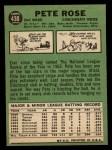 1967 Topps #430  Pete Rose  Back Thumbnail