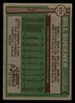 1976 Topps #253  Bill Buckner  Back Thumbnail