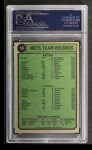 1974 Topps #56   Mets Team Back Thumbnail