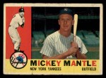 1960 Topps #350  Mickey Mantle  Front Thumbnail