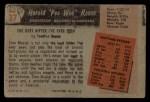 1955 Bowman #37  Harold  Pee Wee  Reese  Back Thumbnail