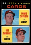 1971 O-Pee-Chee #216   -  Luis Melendez / Reggie Cleveland Cardinals Rookies Front Thumbnail