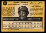 1971 O-Pee-Chee #297  Johnny Briggs  Back Thumbnail