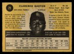 1971 O-Pee-Chee #25  Cito Gaston  Back Thumbnail
