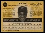 1971 O-Pee-Chee #461  Jim Hart  Back Thumbnail
