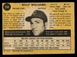 1971 O-Pee-Chee #350  Billy Williams  Back Thumbnail