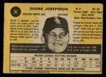 1971 O-Pee-Chee #56  Duane Josephson  Back Thumbnail