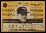 1971 O-Pee-Chee #234  Jim Lyttle  Back Thumbnail