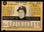 1971 O-Pee-Chee #361  Don Sutton  Back Thumbnail