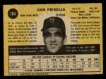 1971 O-Pee-Chee #104  Danny Frisella  Back Thumbnail