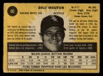 1971 O-Pee-Chee #80  Bill Melton  Back Thumbnail