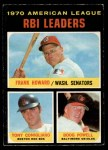 1971 O-Pee-Chee #63   -  Tony Conigliaro / Frank Howard / Boog Powell AL RBI Leaders   Front Thumbnail