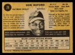 1971 O-Pee-Chee #29  Don Buford  Back Thumbnail