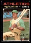 1971 O-Pee-Chee #20  Reggie Jackson  Front Thumbnail