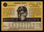 1971 O-Pee-Chee #9  George Scott  Back Thumbnail