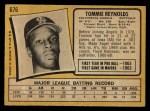 1971 O-Pee-Chee #676  Tommie Reynolds  Back Thumbnail