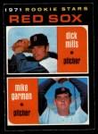 1971 O-Pee-Chee #512   -  Mike Garman / Dick Mills Red Sox Rookies Front Thumbnail