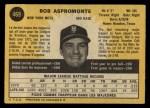 1971 O-Pee-Chee #469  Bob Aspromonte  Back Thumbnail